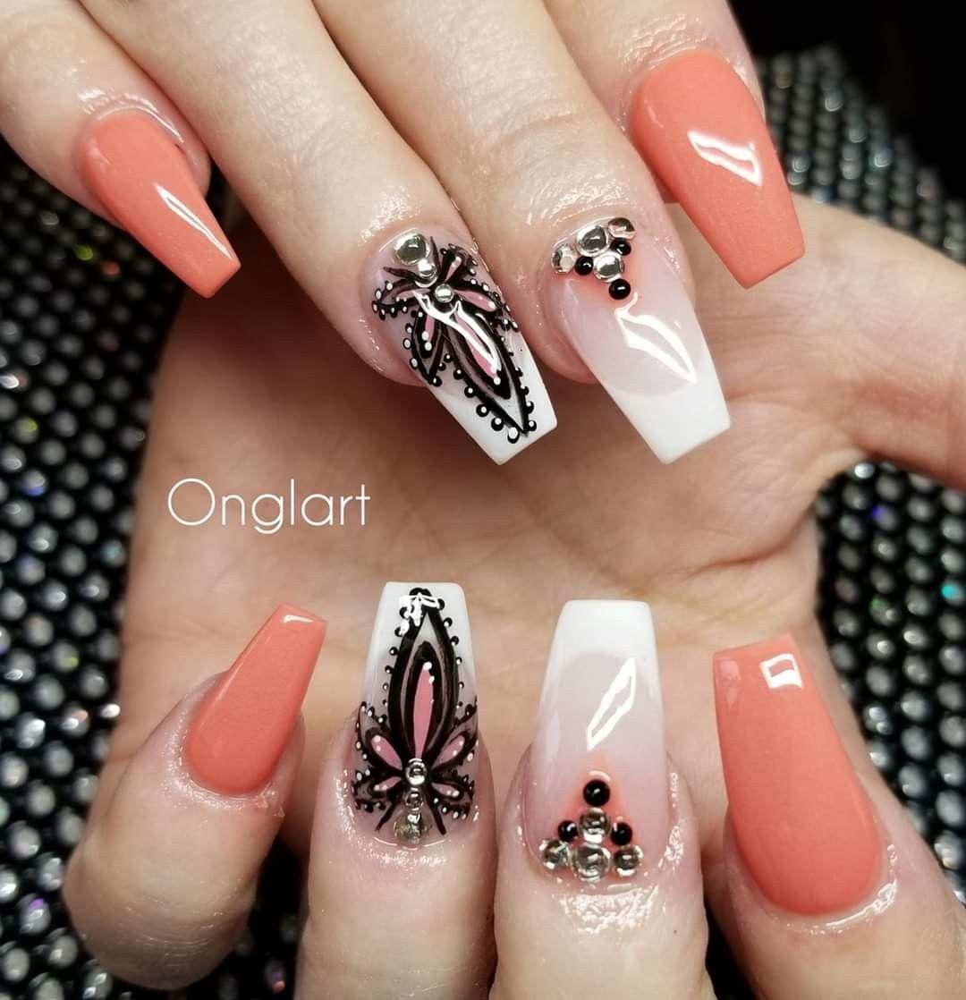 #luxurynaildesigns | Jolis ongles, Ongles rose, Ongles