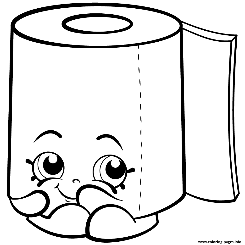 Print Sweat Leafy Roll Of Toilet Paper Shopkins Season 2 Coloring