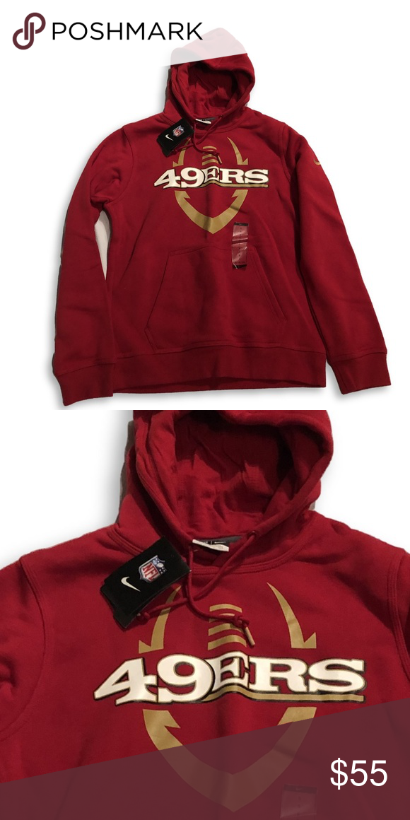NWT San Francisco 49ers Nike Hooded Sweatshirt San Francisco