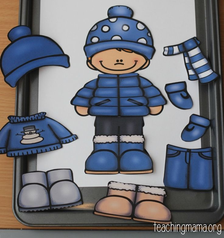 Winter Clothes Dress Up Busy Bag is part of Clothes Winter School - It is absolutely freeeeezing where we live! During this time of the year, it takes so much longer to get out the door because we have so many more items of clothing to put on  Can you relate to this, too ! One skill that is important for preschoolers to know, is how to dress appropriately for …