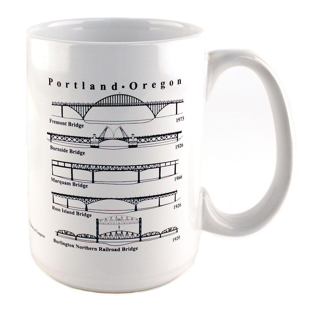Portland Coffee Mug: Portland Bridges Coffee Mug