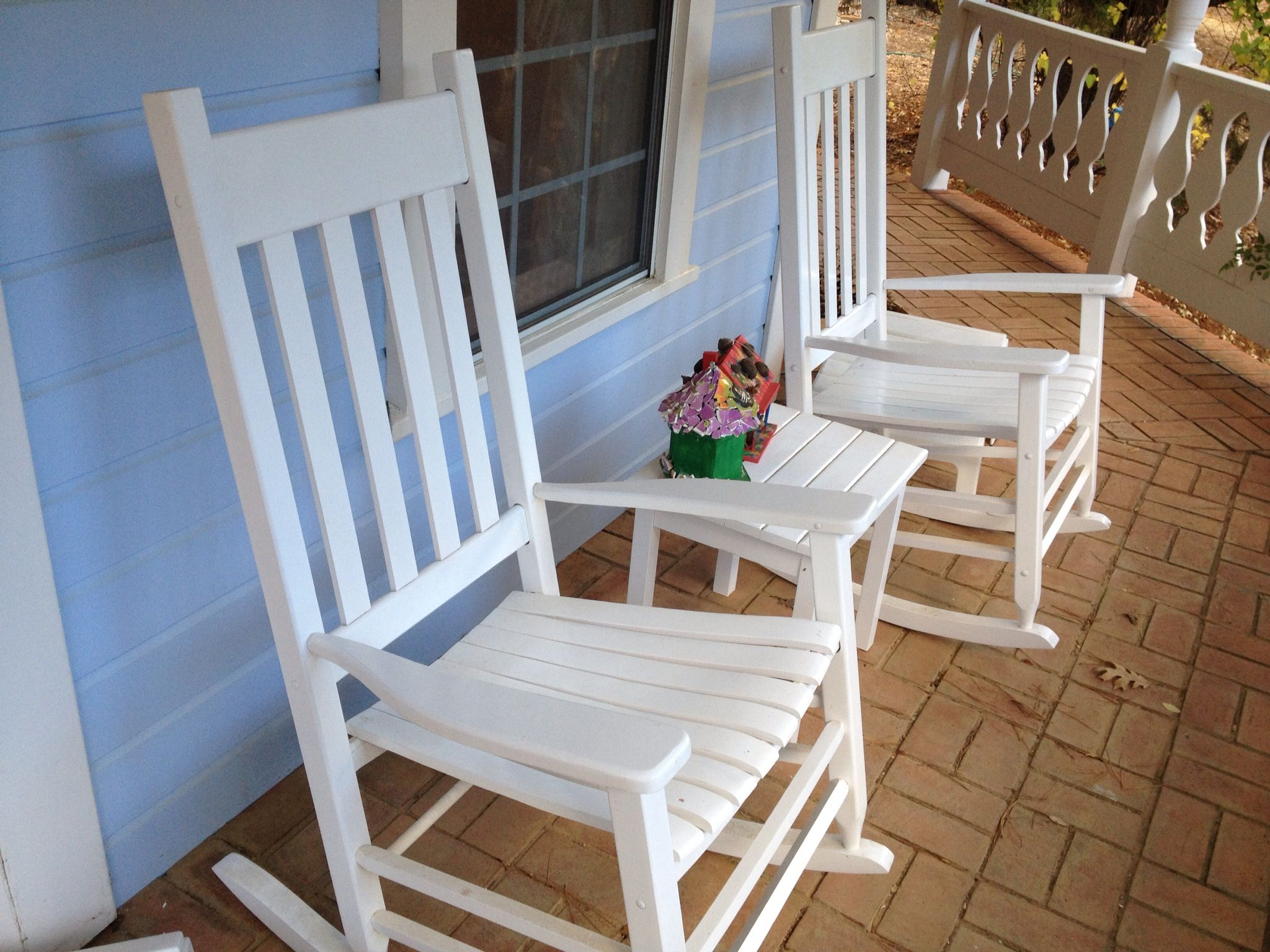 Rocking chairs, 99 each and side tackle, 20, Lowes