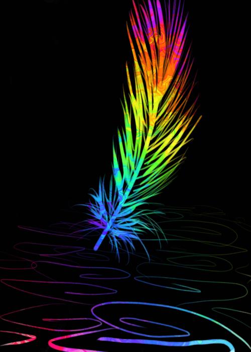 Black Neon Wallpaper Rainbow Colors