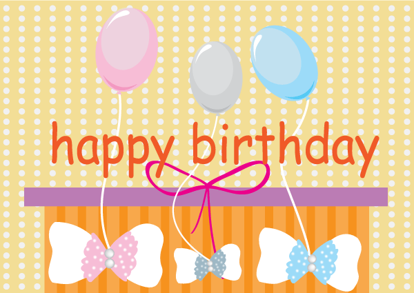 Free Vector Happy Birthday Card with Balloons – Happy Birthday Card Images Free