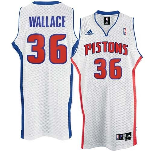 84c6ce883 Detroit Pistons #36 Rasheed Wallace Home Adidas NBA Swingman Jersey In  White ID:952107471$20