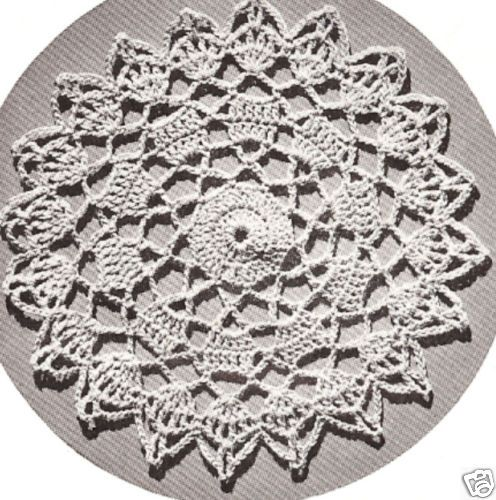 Vintage Crochet MOTIF BLOCK Bedspread Round Pattern