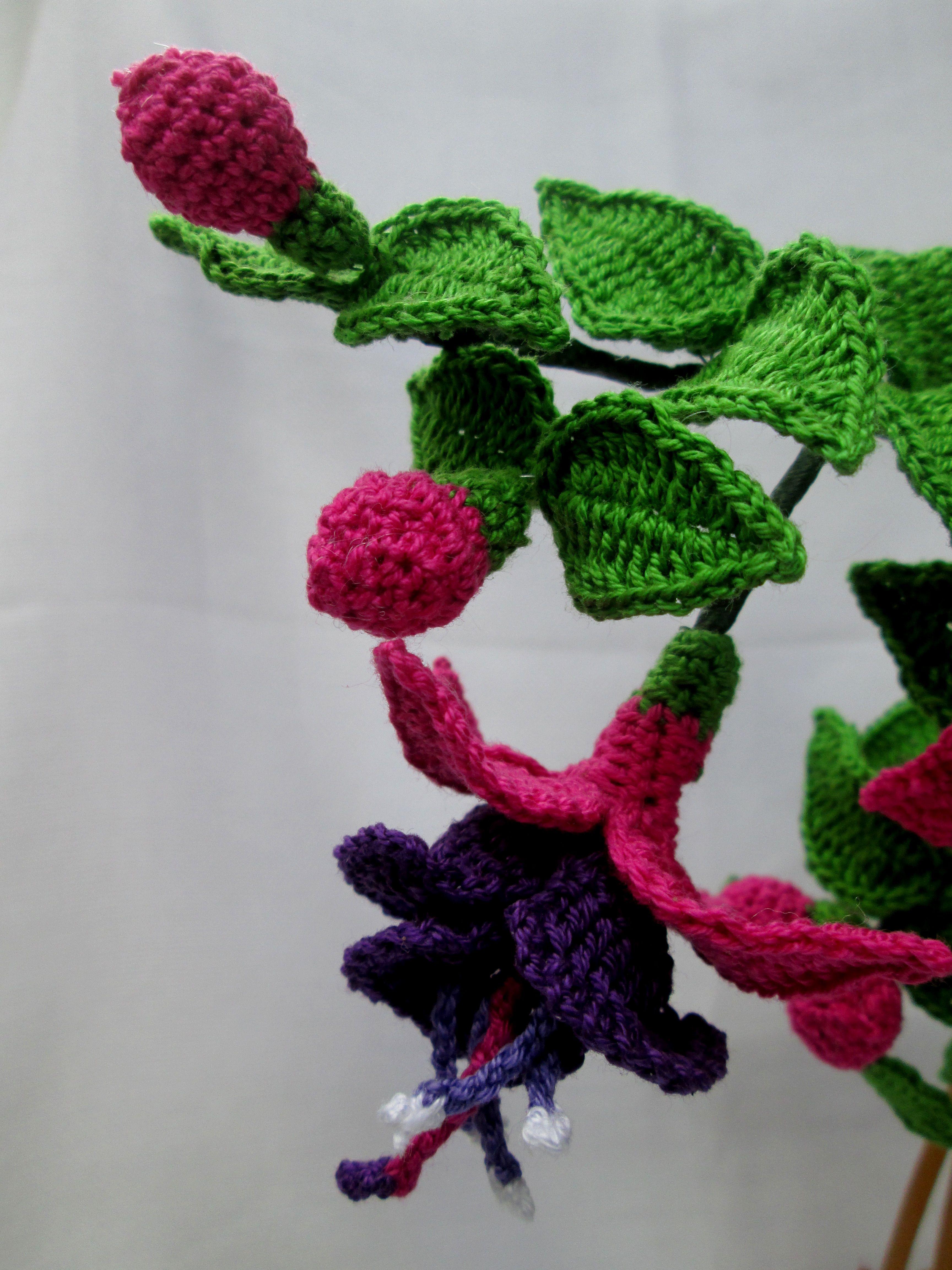 Fuchsia flower in crochet | Creative Ideas | Pinterest | gehäkelte ...