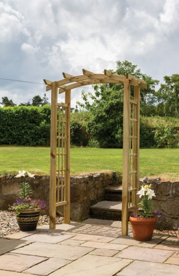 2 1m 6ft 10in Moonlight Garden Arch Fsc By Zest 4 Leisure