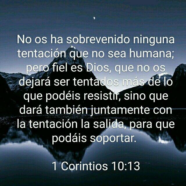 1 Corintios 10:13 | Alabanzas en español | Pinterest