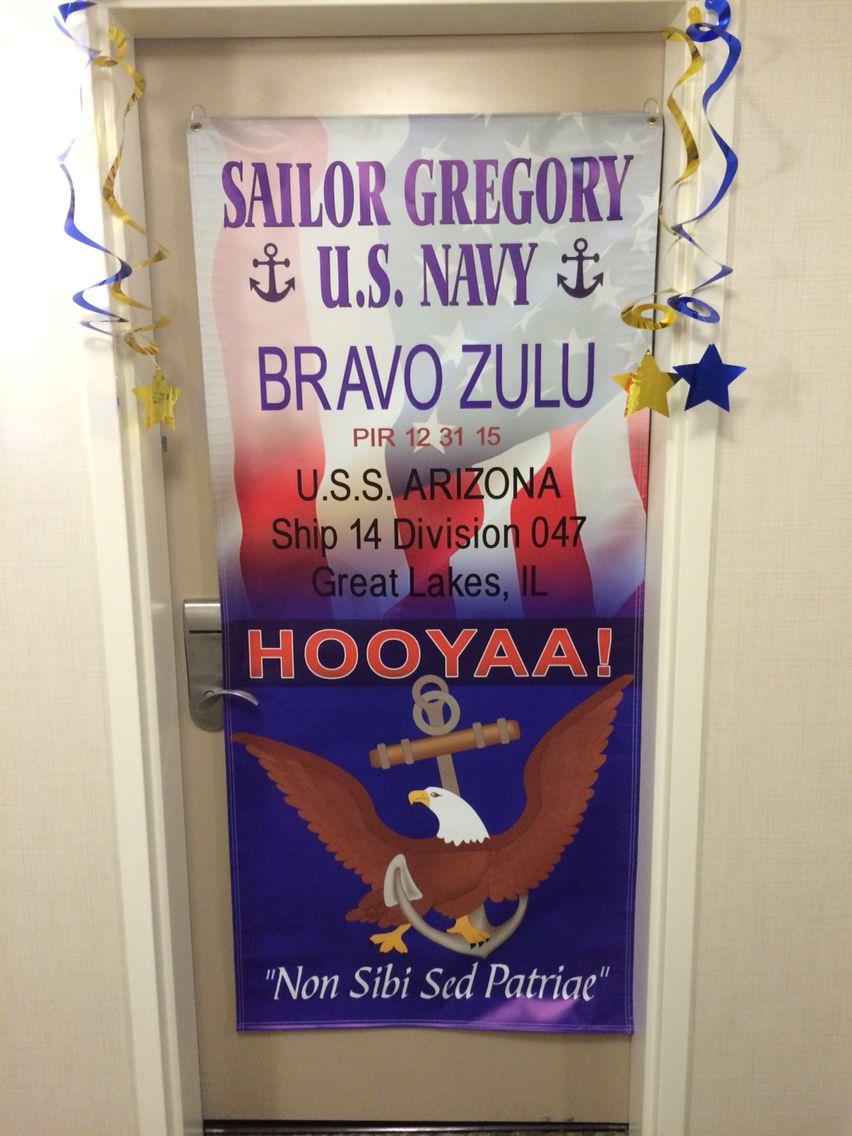 Hotel door decoration for Navy Boot camp graduation | Navy ...