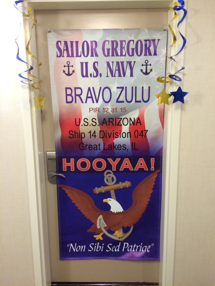 Hotel Door Decoration For Navy Boot Camp Graduation Navy Boot Camp Graduation Navy Decor Navy Party