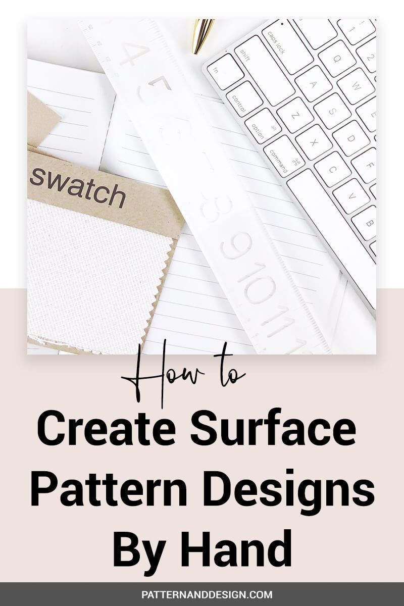 Learn The Steps To Creating Surface Pattern Repeats By Hand