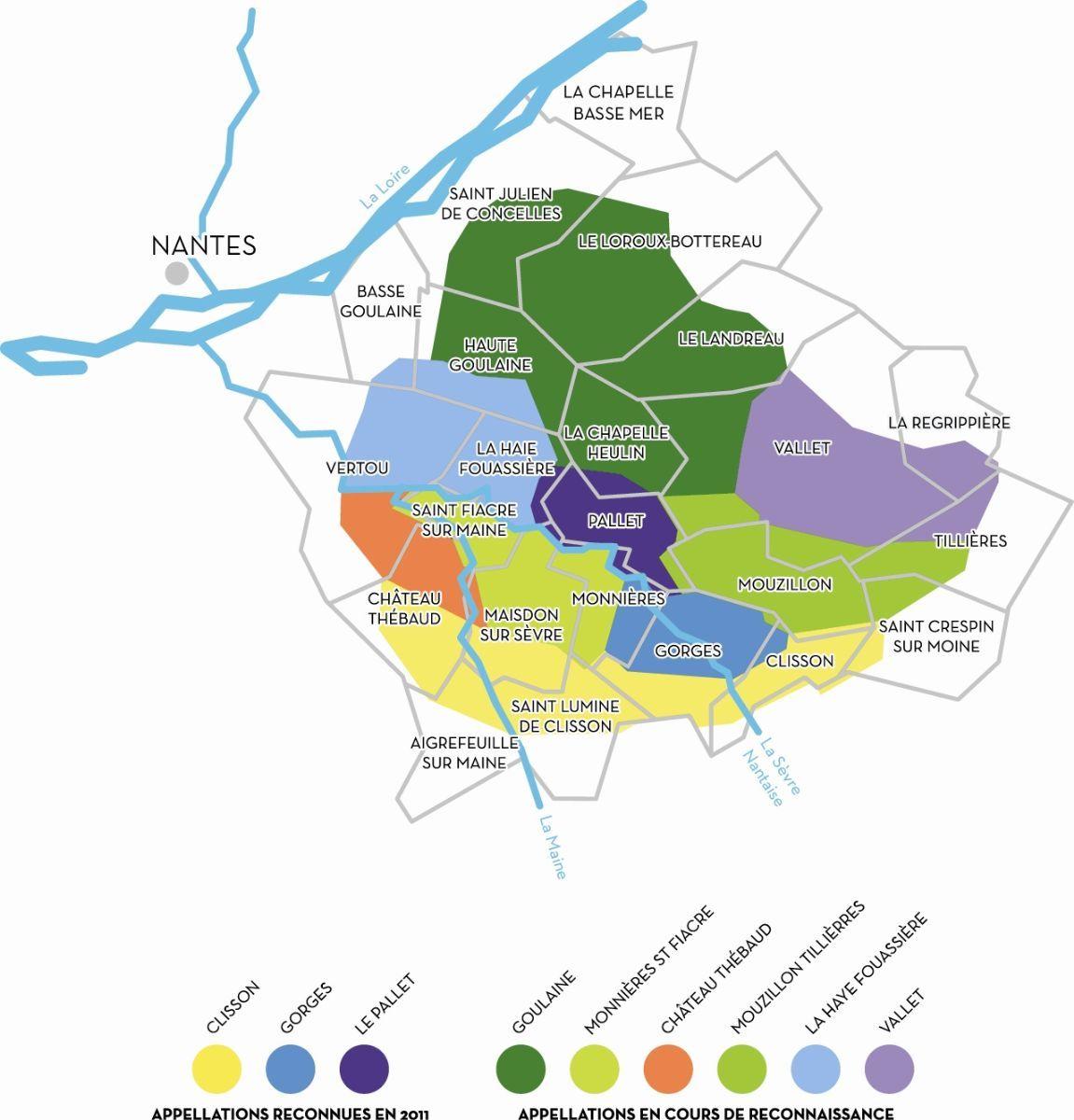 Vins Val de Loire Muscadet crus communaux Clisson Gorges Le