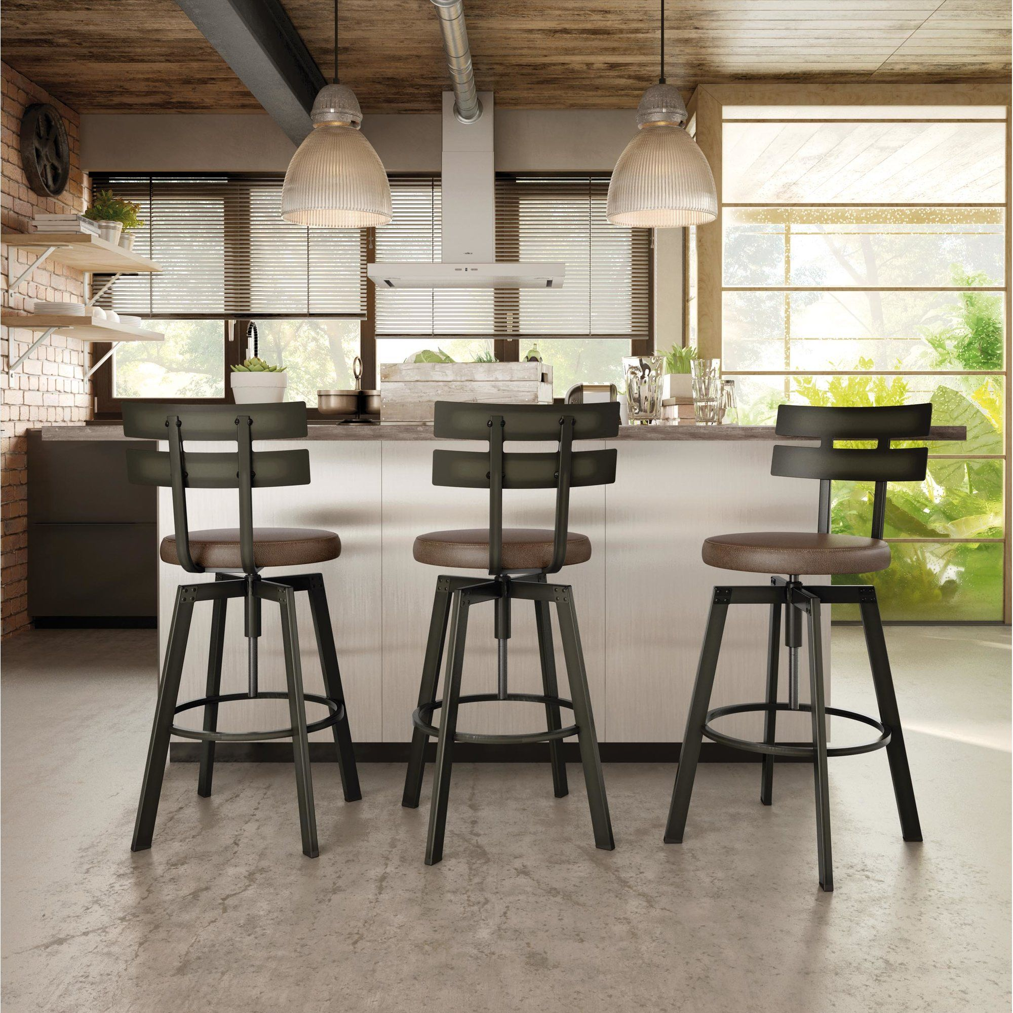 Berrycone Adjustable Height Bar Stool Byron Kitchen In