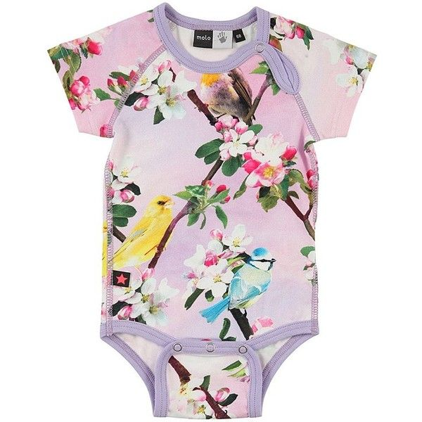 Molo Bird Print Onesie 43 Liked On Polyvore Featuring Kids