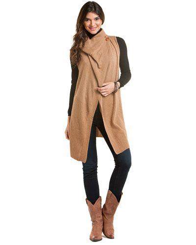 Cullen Caramel Long Sweater Vest | Misovanilla. | Pinterest | Long ...