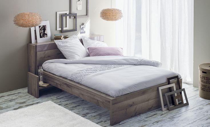La chambre Brooklyn Chêne cendré - La chambre à coucher - Idées déco ...