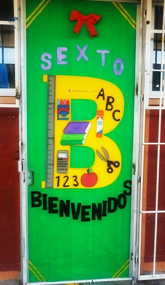 puerta decorada de bienvenidos puertas decoradas