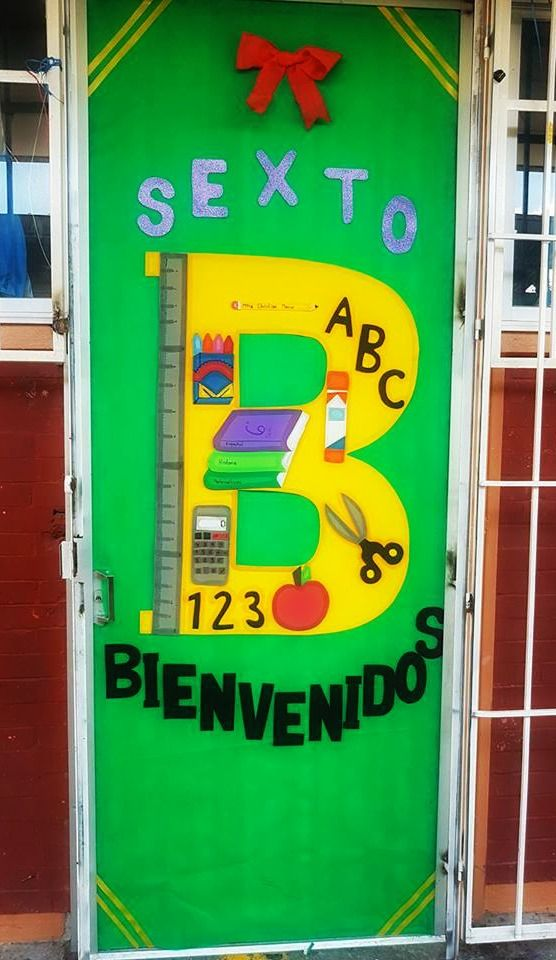 Puerta decorada de bienvenidos puertas decoradas for Puertas escolares decoradas