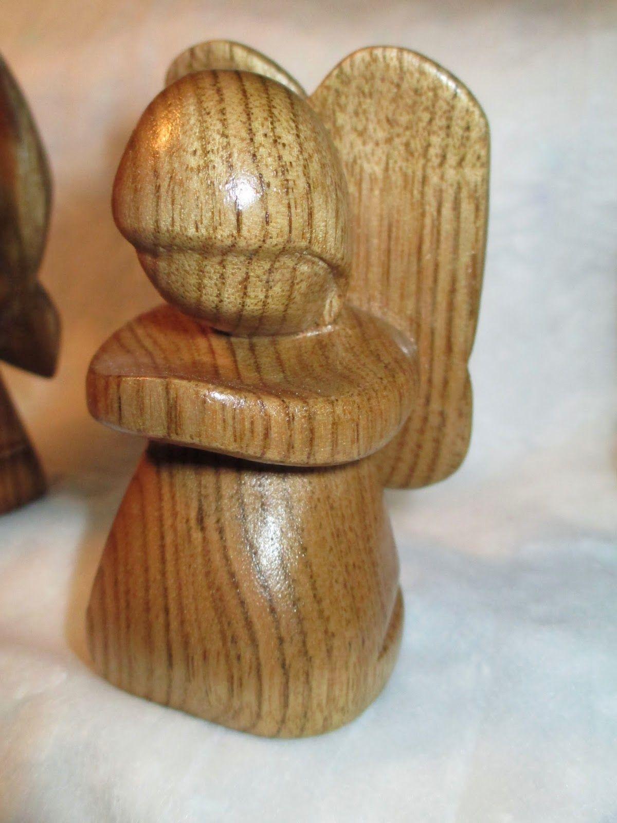 Randy george woodcarving angel ornament rezbarstvo