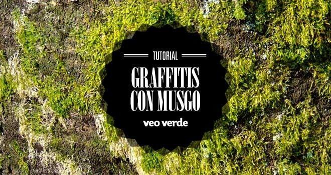 Infografía Veo Verde: ¡¡Aprende a hacer graffiti de musgo!! - VeoVerde