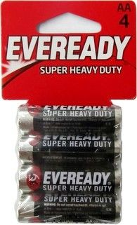 Eveready 1215 4 Aa Super Heavy Duty Batteries Aa Battery 4 Pack Dated 0 48 0 80 Wholesale At Www Batteriesandbutter Heavy Duty Aa Batteries Batteries