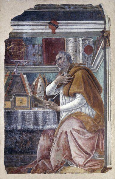 Botticelli Sandro - Sant'Agostino nello studio -  c. 1480 - Basilica di San Salvatore in Ognissanti, Firenze