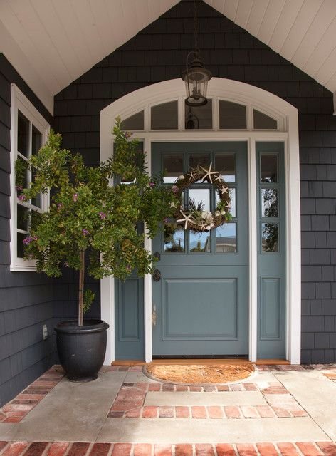 Front Doors With Sidelights Entry Traditional With Beach Cottage