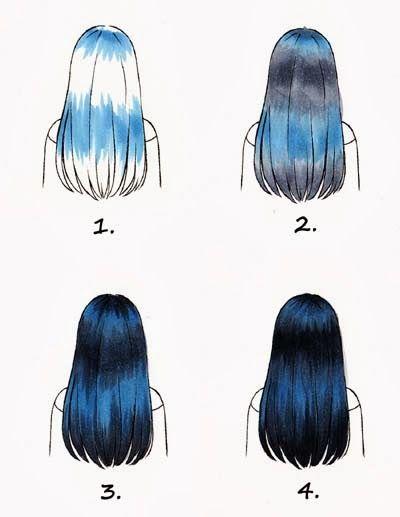 How To Do Highlights For Black Hair Copicmarkerdeutschland Tumblr Com Digital Media Art How To Draw Hair Marker Art