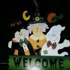 Avon Halloween Welcome Wooden Door Sign in Original Box