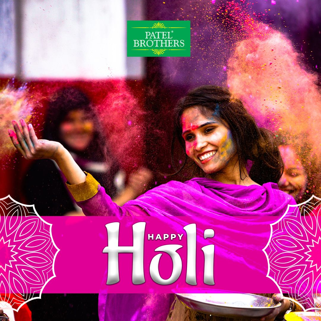 Holi, the fiesta of happiness, gujiya and refreshing thandai is back with splashing colors of joy. Share sweets of love and fill your heart with the purity of affection. Holi Hai!  __________________________ #PatelBrothers #swad #holi #happyholi #love #holifestival #colorrun #holipowder #festival #thandai #photography #colors #rang #colorpowder #fashion #festivalholi #celebration #colorful #fun #friends #family #enjoy #instagood #happiness #joy #indian #indianfestival #festivalofcolors #holi2020