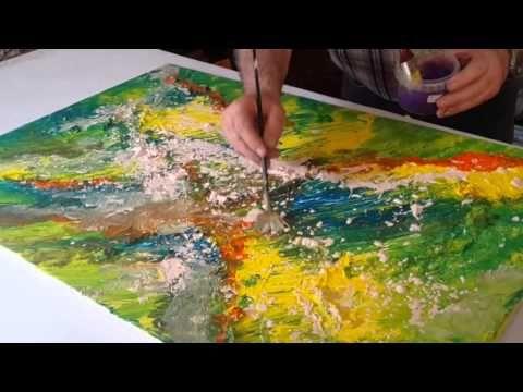 Comment Peindre Un Paysage Avec Fleurs Cours De Peinture Pour