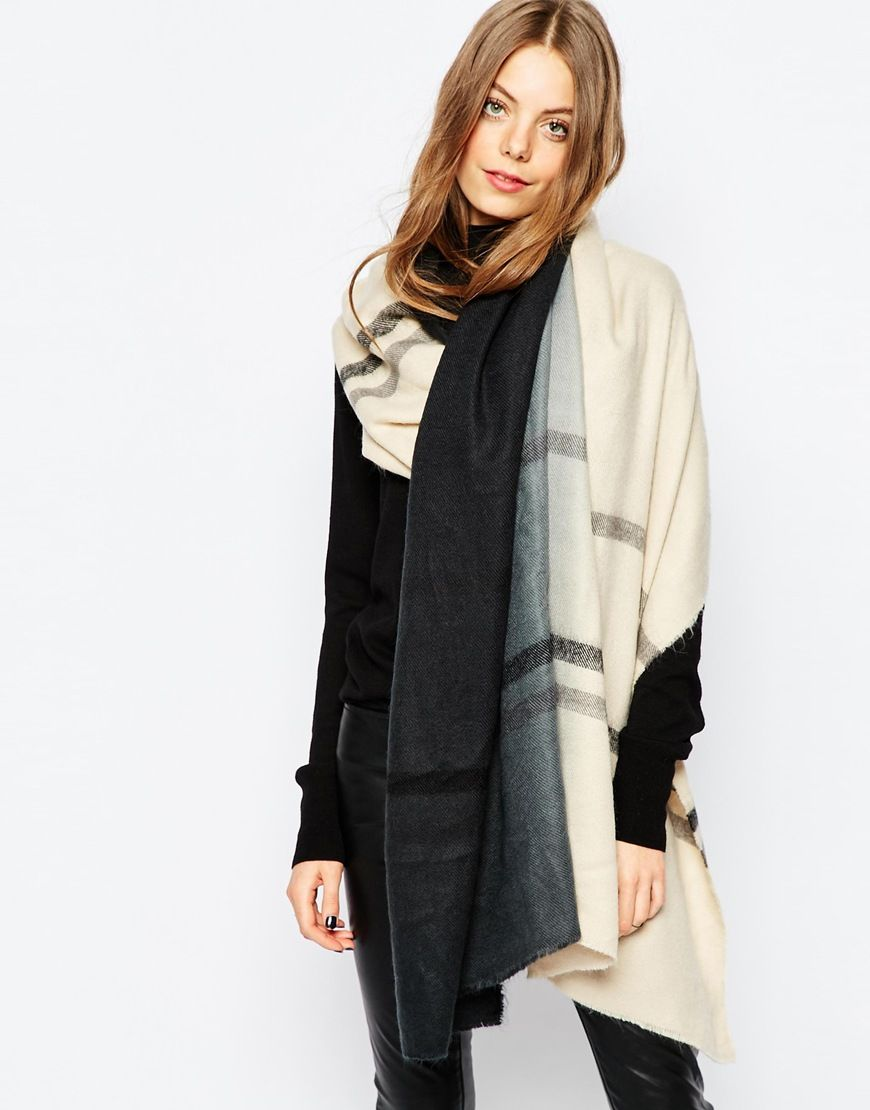 Image 1 of Pieces Ombre Oversized Blanket Scarf   Winter Travel ... 0e178b59c13