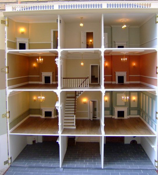"Anglia Dolls Houses by Tim Hartnall - Ready to ""move in"" (Sudbury Hall interior)"