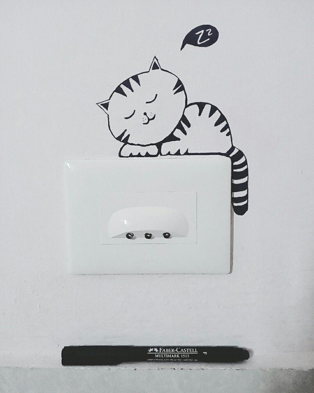 Switch Board Art Whiteboard Art Funny Wall Decal Funny Wall Art