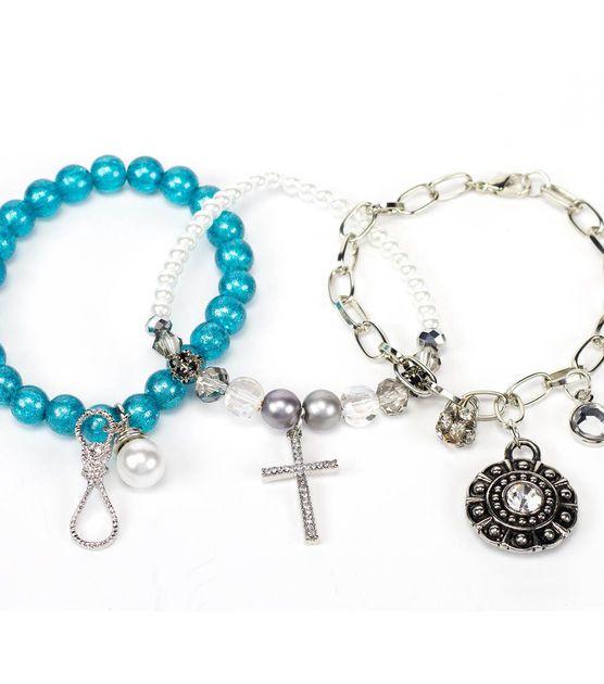Turquoise Stretch Bracelet Set at Joann.com