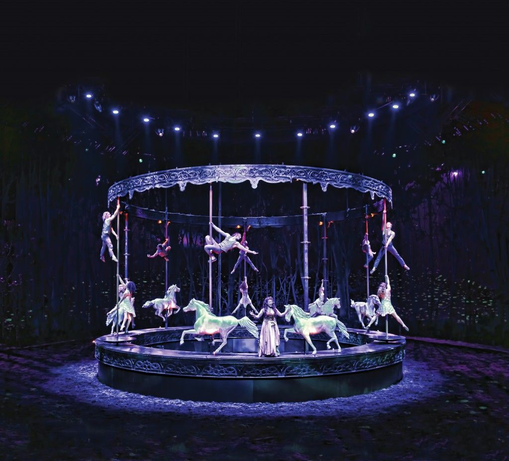 Cavalia Odysseo Merry Go Round  One of the most incredible Things I have EVER seen!!!
