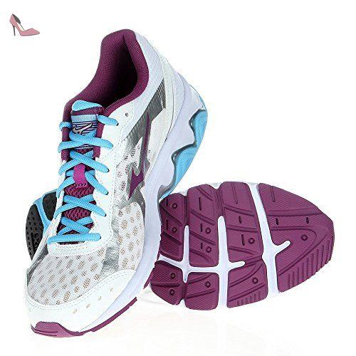 size 40 125e8 8b556 Mizuno - Wave Wave Advance - J1GF144961 - Couleur  Blanc-Violet - Pointure