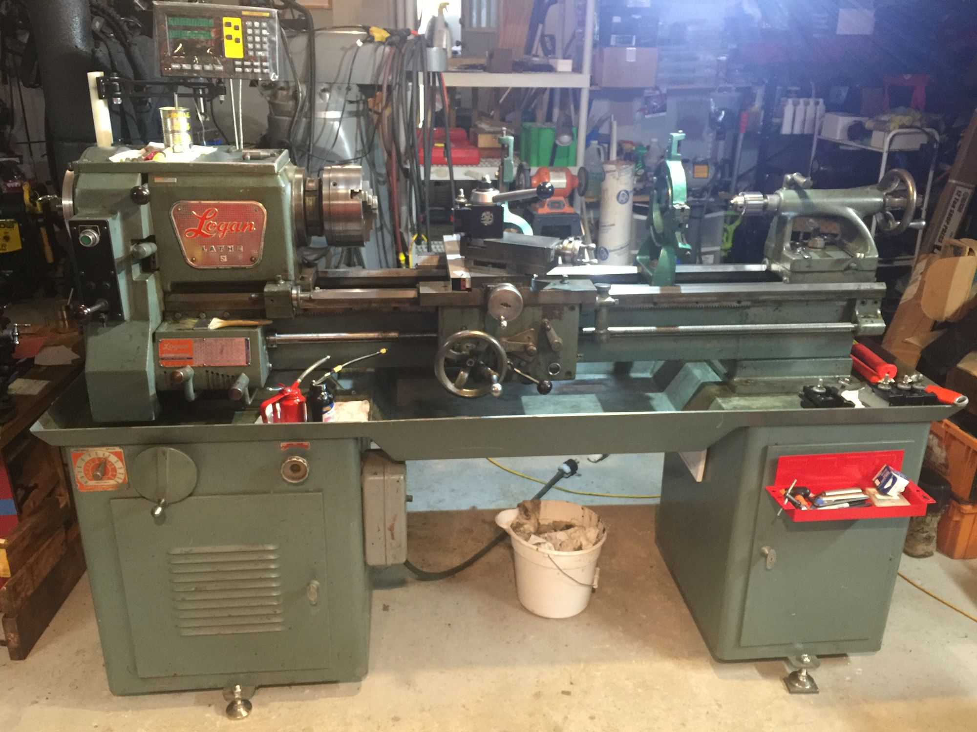 Used Metal Lathes Atlas South Bend Logan Leblond Monarch >> My Logan Lathe 6565 After Dro Install Logan Lathe 6565 In 2019