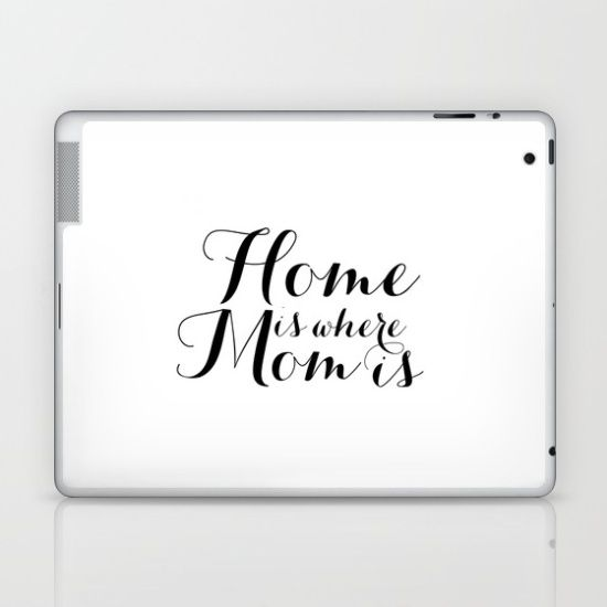 Mothers Day Gift Home Is Where Mom Is Printable Wall Art Decor - How to make laptop decals at home