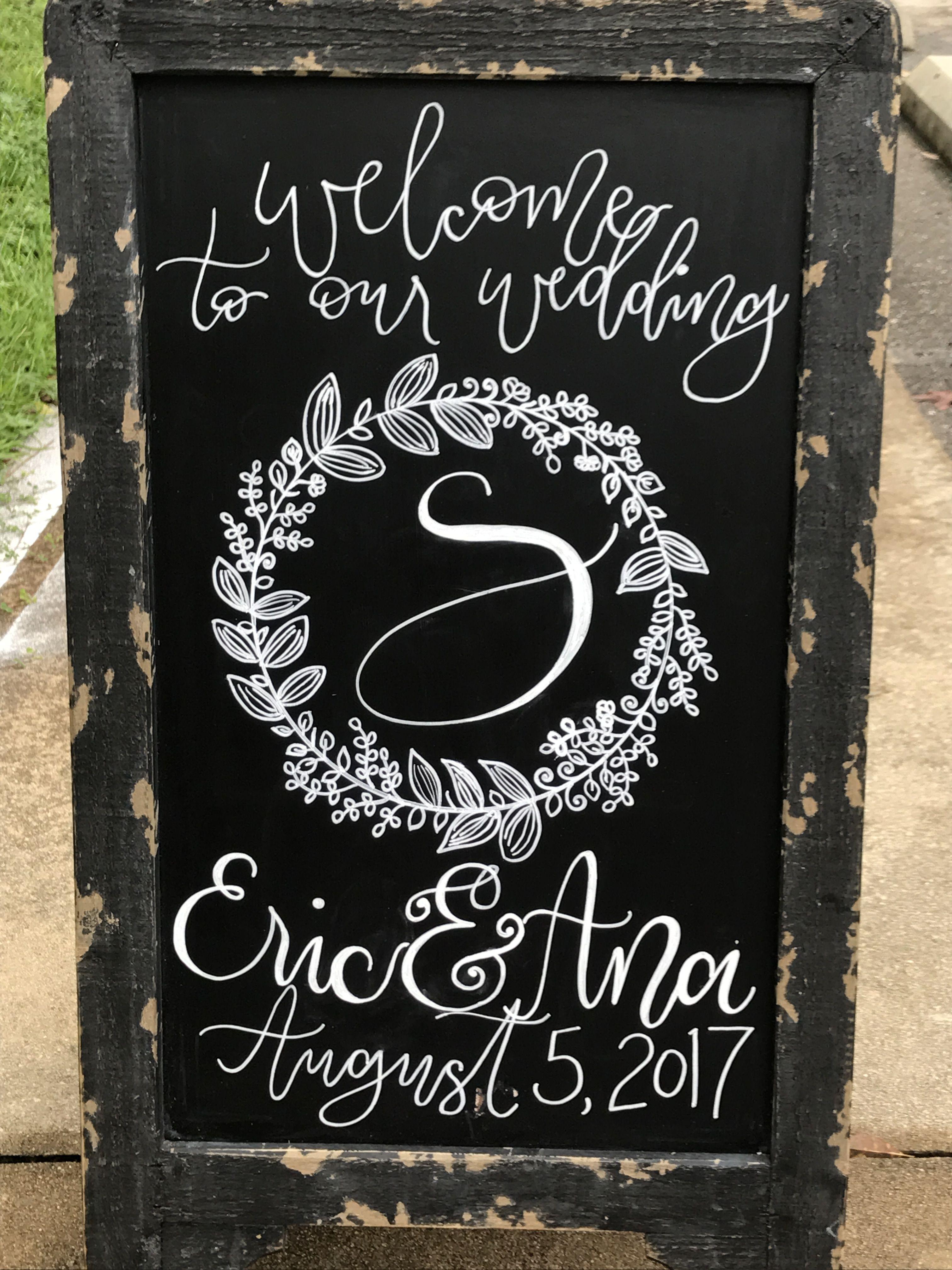Wedding Welcome Chalkboard