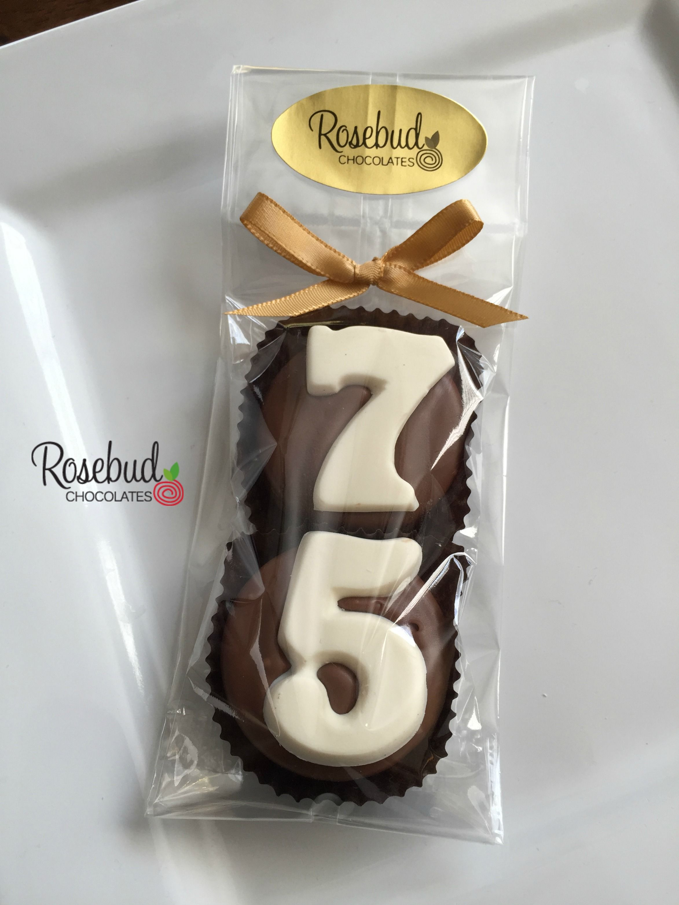 75th Birthday Party Favors Chocolate Covered Oreo Cookies 75 Seventy Five Years Decor Decorations Numbers Dessert Table