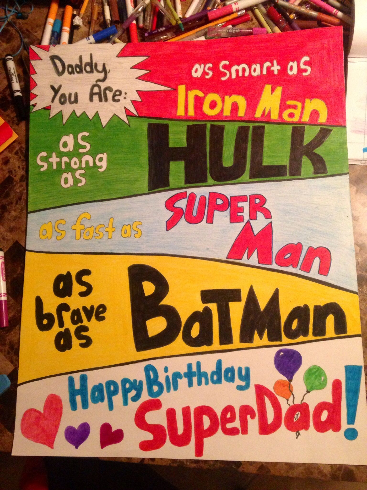 A creative poster for Father's Day or dad's birthday