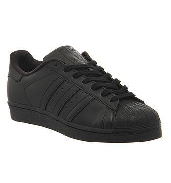 Adidas Superstar 1 Black Mono Foundation - His trainers