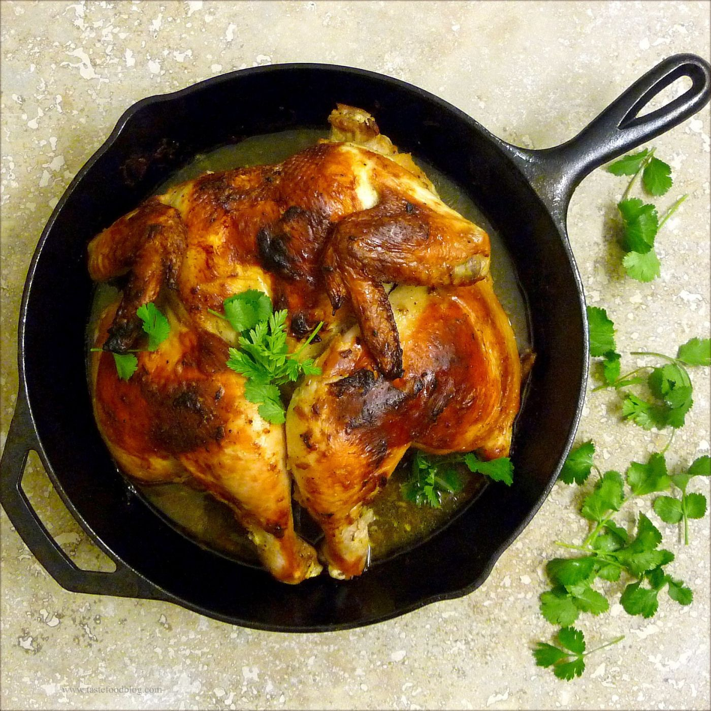 Roasted Chicken with Cardamom and Yogurt