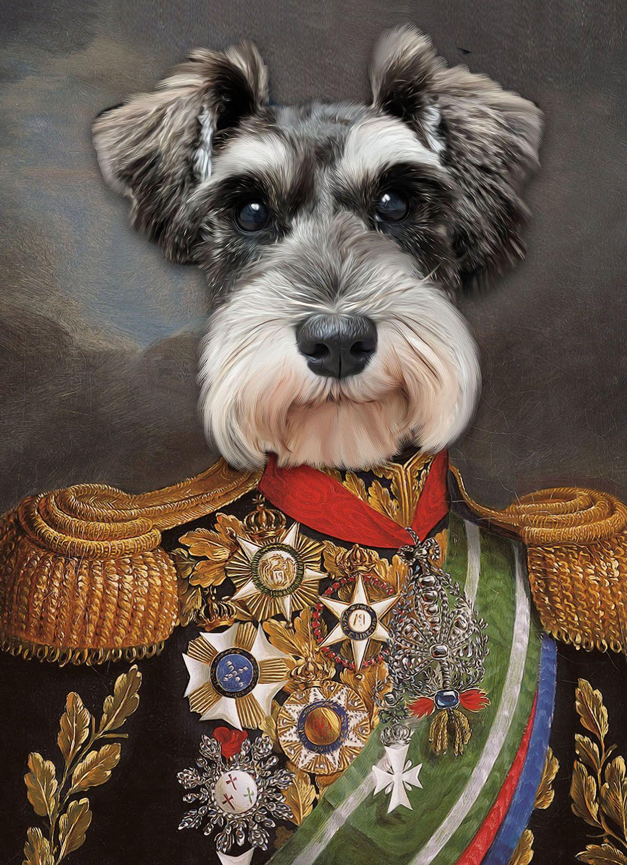 Custom Pet Portrait Your Pet In Military Uniform Pet Portrait Custom Portrait Unique Gifts Dog Art Unique Gift Dog Painting Custom Painting In 2020 Animal Portraits Art Dog Portraits Dog Canvas Painting