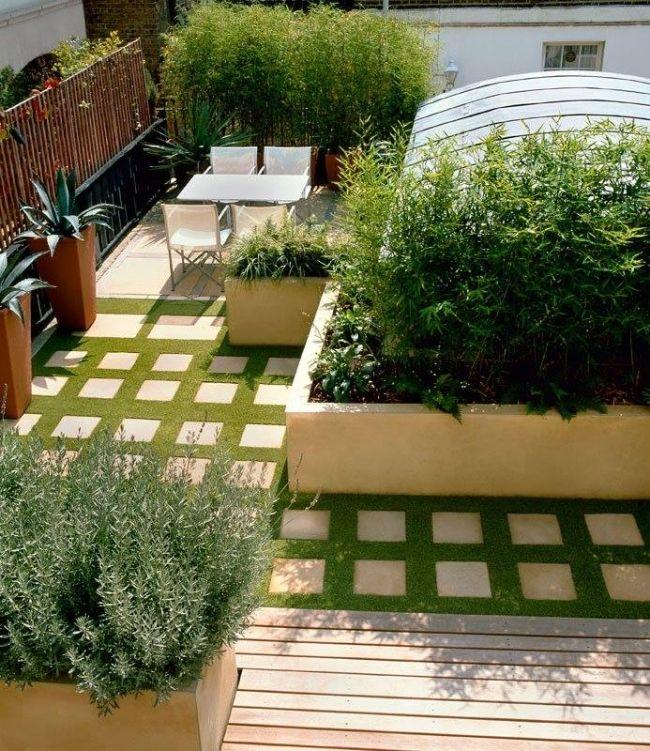 dachterrasse boden gestaltung rasen fliesen sichtschutz haus und garten pinterest terrasse. Black Bedroom Furniture Sets. Home Design Ideas