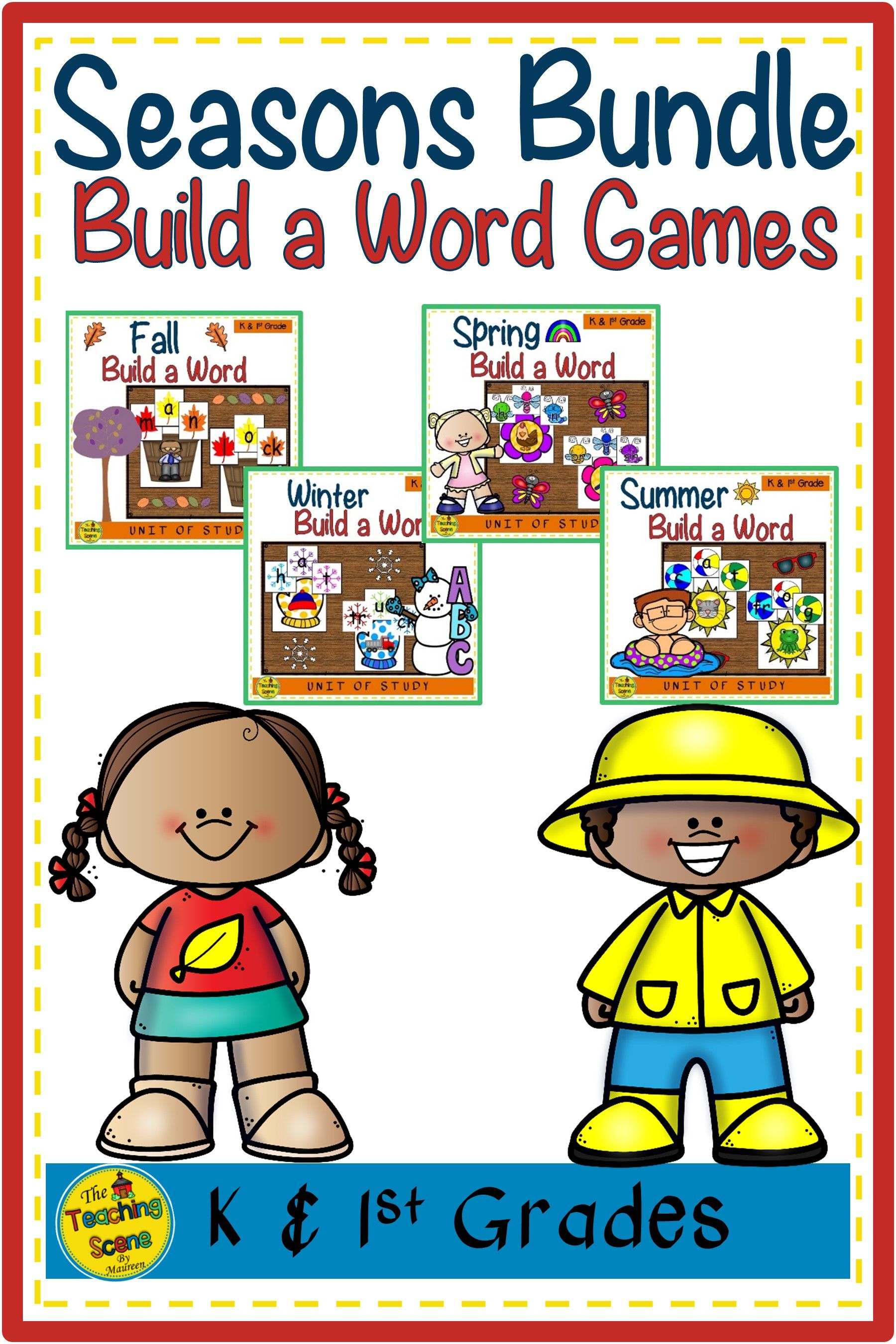 Four Seasons Build A Word Games Bundle In