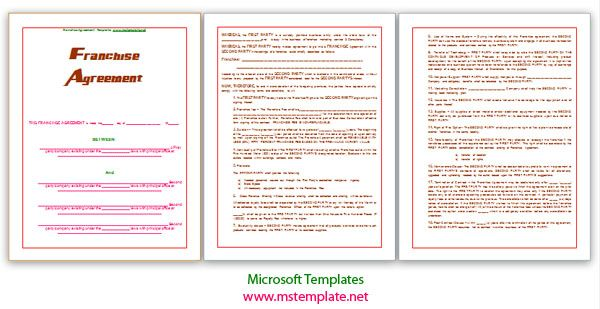 Franchise Agreement Template Franchise Templates Templates Http