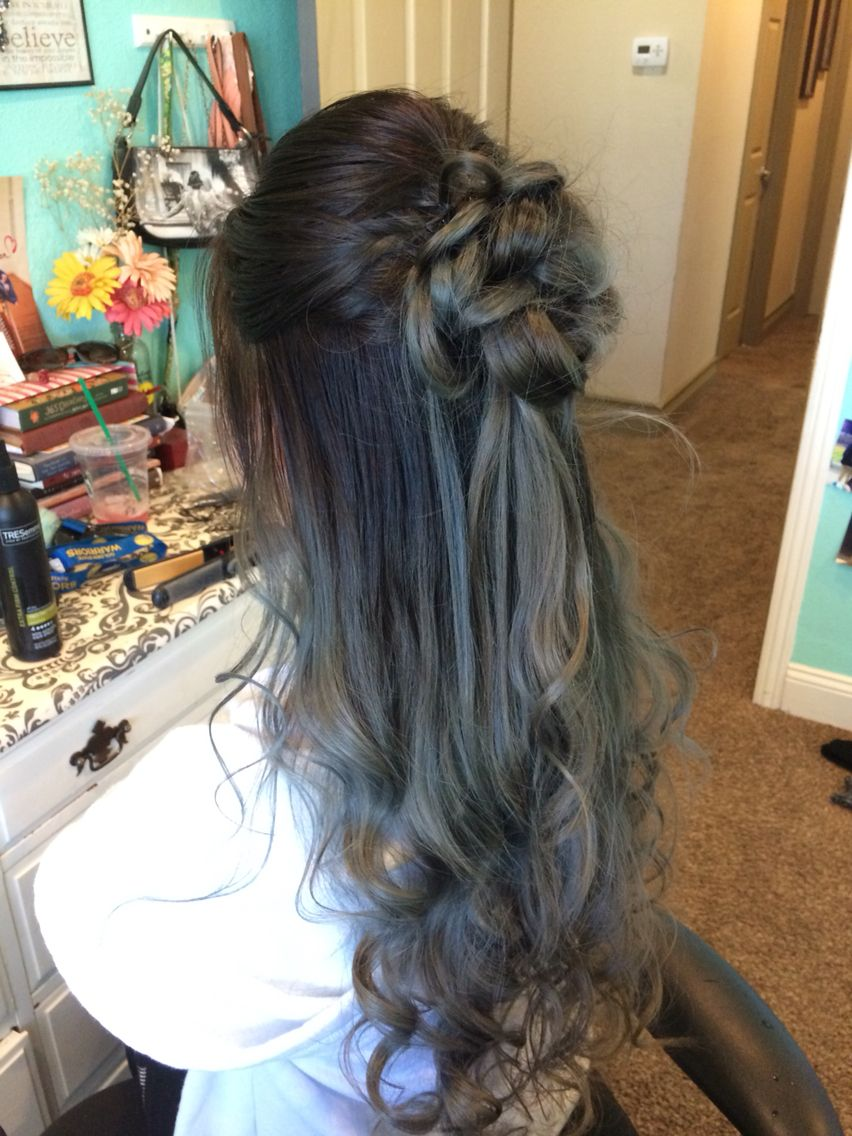Prom Hair Half upHalf down wedding ideas Pinterest Prom